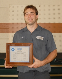 Joe Moberg becomes an ASE Master Certified Technician