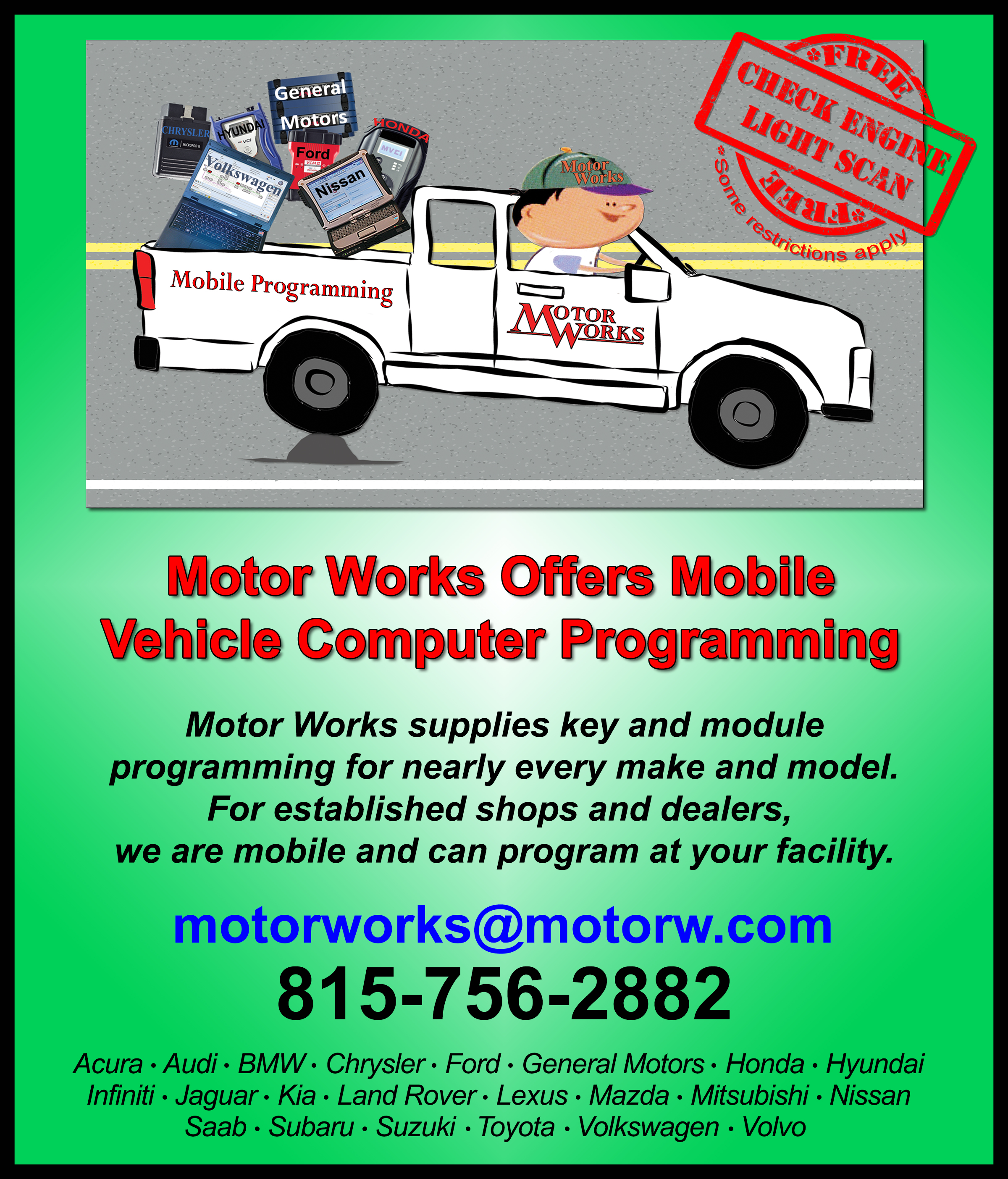 Motor Works | Motor Works… Now with Dealership Diagnostic